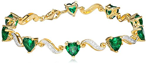 yellow-gold-flashed-sterling-silver-gemstone-and-diamond-accent-heart-wave-bracelet-725