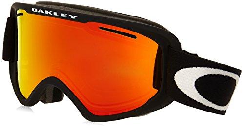 Oakley OO7066-01 O2 XM Eyewear, Matte Black, Fire Iridium - Iridium Fire Oakley Lens