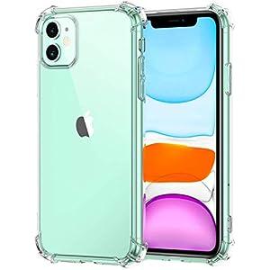E-COSMOS Case Rubber Bumper Back Cover case for Apple iPhone 11- (Transparent)