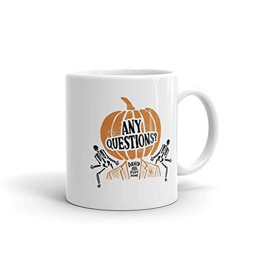 Saturday Night Live David S. Pumpkins White Mug - 11 oz. - Official Coffee Mug -