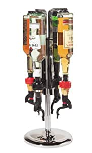 Oggi Professional 4-Bottle Revolving Liquor Dispenser