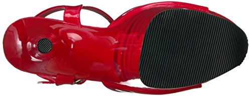 Red Pleaser Plateforme Femme 809ln Pat Flamingo Red Sandales wnz8pX