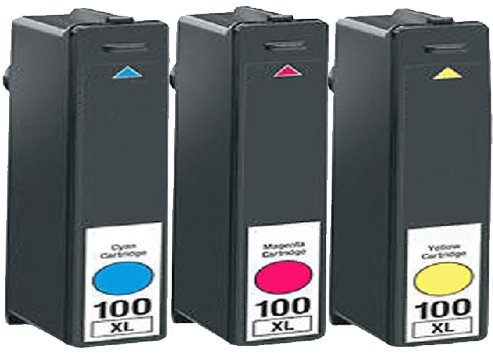 HouseOfToners Compatible Ink Cartridge Replacement for Lexmark #100XL (1 Cyan, 1 Magenta, 1 Yellow, (Lexmark Replacement Cartridges)
