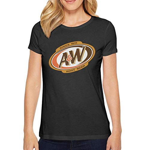 (ORYSJDGTS Round Collar Shirts Women A&W-Root-Beer-Logo- Vintage Tops)