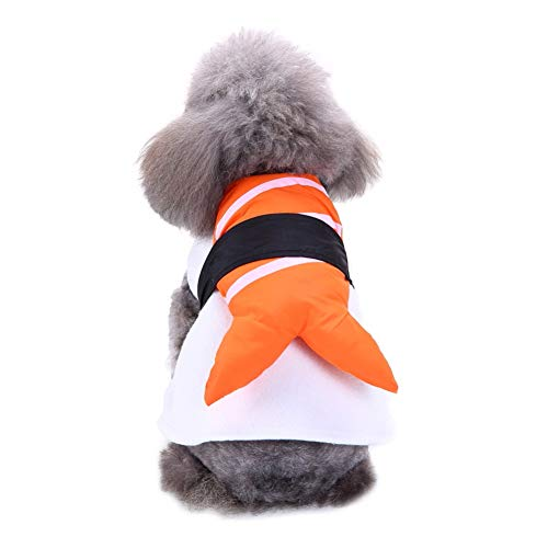 Adarl Foods Role Play Pet Dog Costumes Japanese Sushi Clothes Apparel Set for Puppy Dog Cat -