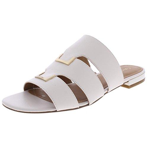 Calvin Klein Women's Evita Gladiator Sandal, Soft White, 8.5 M US 34E2257-SWT