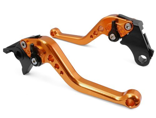 Short Brake Clutch Levers for KAWASAKI NINJA 250R 2008-2012, NINJA 300R 2013-2016,Z300 2015,Z250/SL 2015-2016,KLX125/D-TRACKER125 2010-2016,KLX250/D-TRACKER 2008-2016,KLX150S 2009-2013 by RIDE IT