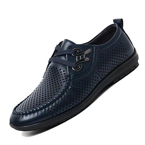Scamosciata Blue da in Uomo Business Sandali Baotou Pelle Sandali Traspiranti Uomo Casual da Sandali Scarpe Y6qwfAXn
