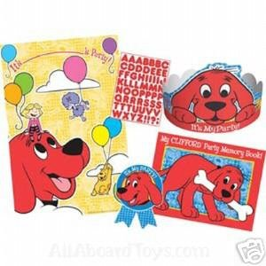 Clifford The Big Red Dog Guest of Honor Kit with Poster, Hat, Stickers, Memory Book & Badge, Party Supplies Decorations, All About Red by Designware
