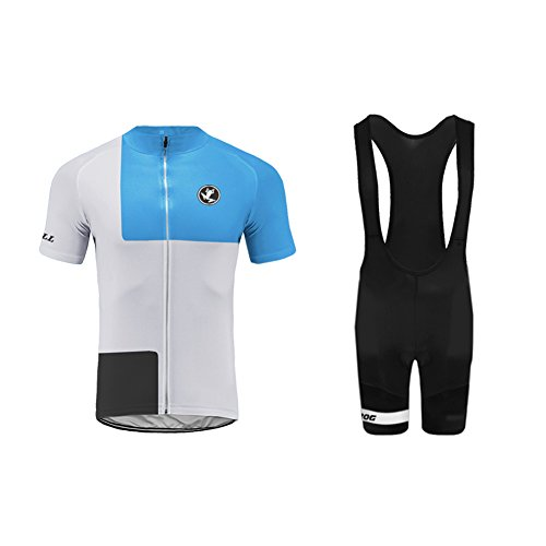 Uglyfrog Cycling Jersey and Bib Shorts Set Bicycle Bike Short Sleeve Jersey Clothing Apparel Suit Padded Breathable Quick Dry Non Slip for Mountain Bike Road Bike MTB BMX Racing Outdoor G05