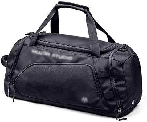 多目的ウェットとドライの分離アウトドアスポーツゴルフの服バッグ大容量の軽量トラベルバッグ独立した靴のデザインブラック HMMSP