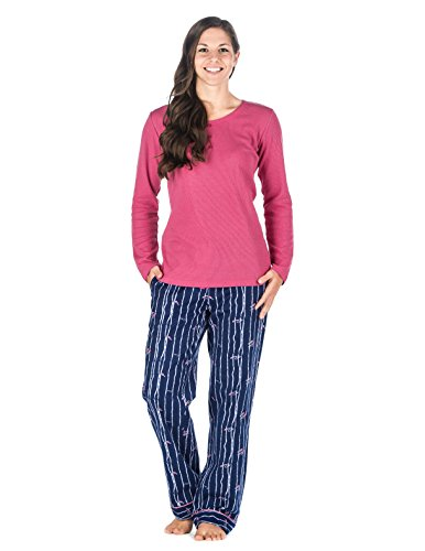 b272440302 Noble Mount Gift-Packaged Womens Premium Cotton Flannel Loungewear ...