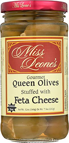 (Miss Leone's (NOT A CASE) Olives Feta Cheese Stuffed, Dr Wt.)