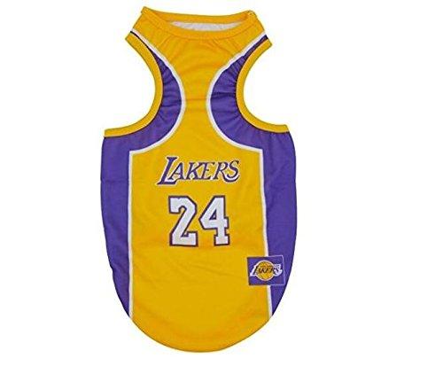 PvxgIo Ropa para Mascotas Lakers Chaleco de Baloncesto Cat Dog Clothes S