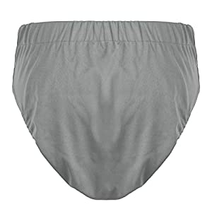 FEESHOW Adult Cloth Diapers, Washable Reusable Adjustable Adult Nappy for Old Man Grey M