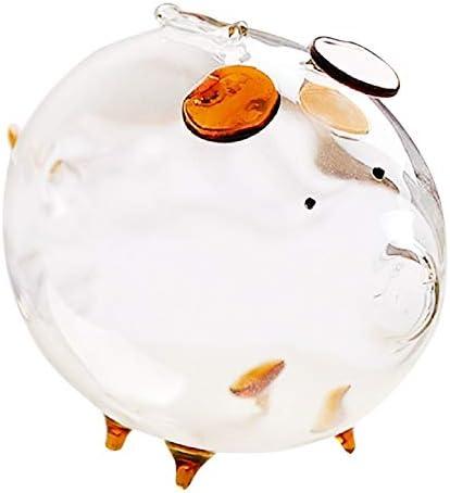Pig Piggy Bank Money Boxes Coin Saving Box Cute Transparent Glass Souvenir Birthday Gift Money Boxes That Locks Reception Gifts Parties Wedding Kids Boxes Adults Weddings Slot Gift Birthda