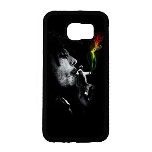 Samsung Galaxy S6 Cover Shell Cool Smoking Reggae Music Bob Marley Wailing Wailers Phone Case Cover Originator Singer Personalized