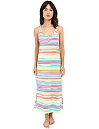 Lauren Womens Striped Sleeveless Nightgown Sleep Shirt Multi XL