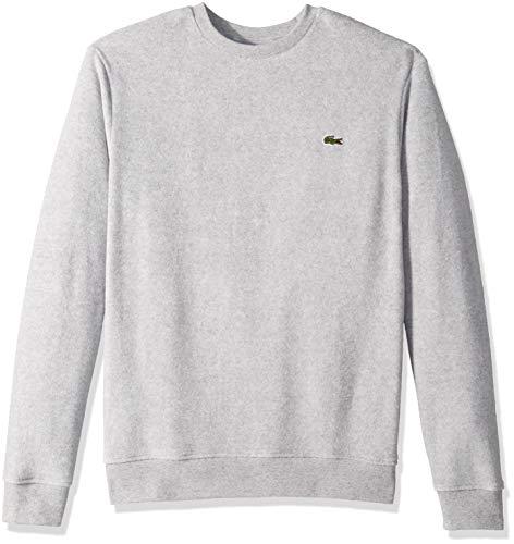 Lacoste Men's Long Sleeve Cashmere Crewneck Sweatshirt, PLUVIER Chine, Small