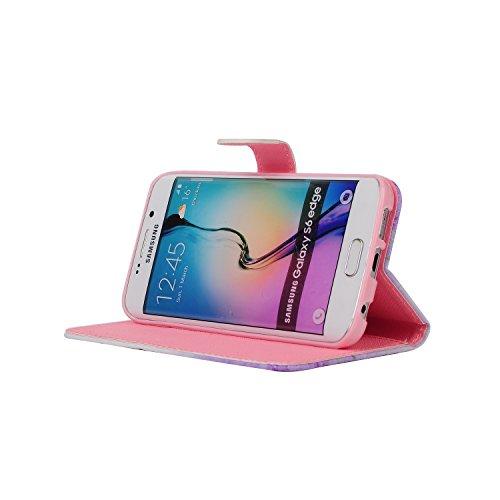 Funda para Galaxy A8, Flip funda de cuero PU para Galaxy A8, Galaxy A8 Leather Wallet Case Cover Skin Shell Carcasa Funda, Ukayfe Cubierta de la caja Funda protectora de cuero caso del soporte billete Crystal:Campanula