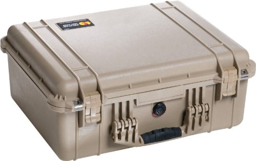 Pelican 1550 Camera Case With Foam (Desert - Fly Tan