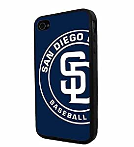 diy zhengMLB San Diego Padres logo Baseball, Cool iphone 5c/ Smartphone Case Cover Collector iPhone TPU Rubber Case Black