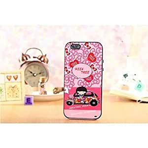 SHOUJIKE TPU soft silicone shell PC plastic frame Stand Case for iPhone 6 (4.7inches)