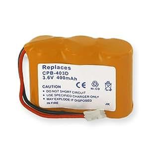 Empire CPB-403D Níquel Cadmio 400mAh 3.6V batería recargable - Batería/Pila recargable (400 mAh, Níquel-cadmio (NiCd), 3,6 V, Amarillo, Ultraalto)