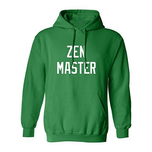 ZeroGravitee ZEN Master Adult Hooded Sweatshirt In Kelly Green - XX-Large (Master Adult Sweatshirt)