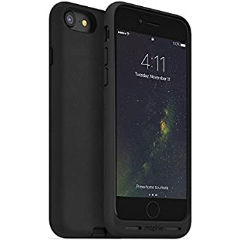 finest selection 759c4 0564a mophie Charge Force case - Made for iPhone 8 and iPhone 7 - Works with Qi  and Other Wireless Charge Systems- Not a Battery Case - Black