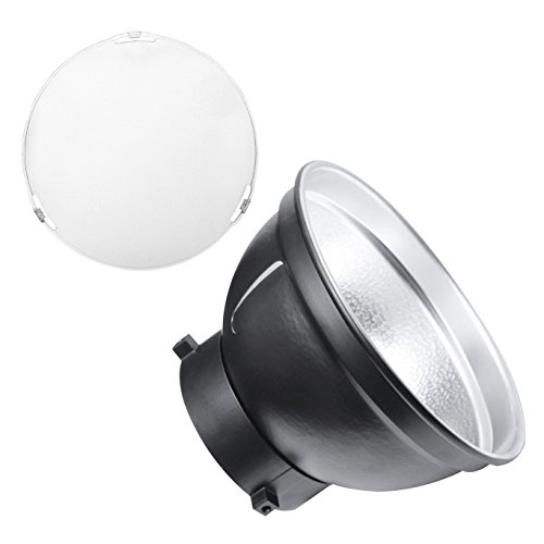 Godox AD-R6 Standard Reflector Bowens Mount w/Soft Diffuser for Godox AD600B AD600BM Strobe Flash Light