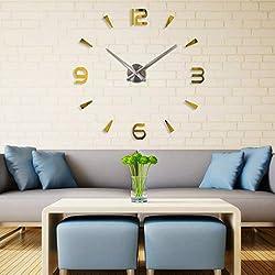 Wall Clocks - Acrylic Frameless Diy 3d Wall Clock Home Living Room Decoration Modern Digital Large Size With Eva - Light Vinyl Star Up Jumbo Quartz Parts Numerals Harry Deco