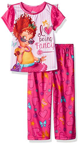 Disney Girls' Toddler Fancy Nancy 2-Piece Pajama Set, Love, 3T -