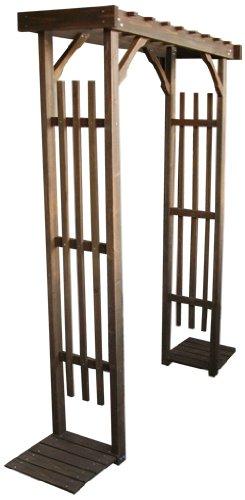 天然木製 シェッドファサードウォール&バルコニーアーチセット 高さ190cm ダークブラウン SFW-JSBA-DBR B00BUHXOG4 14900 ウォールアーチセット  ウォールアーチセット