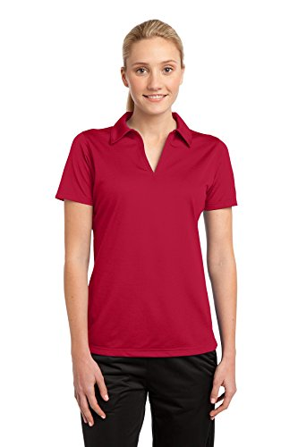 Sport-Tek Women's PosiCharge Active Textured Polo 4XL True Red