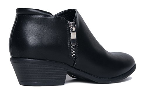 Toe Lexy Matte Stacked J Boot Ankle Western Adams Closed Bootie Black Heel Low Casual Bn8qAw
