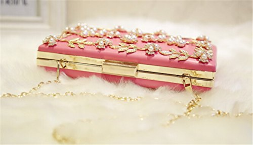 TOMATO-smile - Bolso mochila  de poliuretano para mujer plateado 755-bunte 05-Rosa