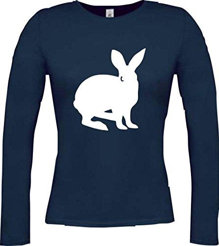 Cocodrilo Lady Manga Larga De Animales Zoo Natural wildness Liebre Conejo Rabbit largo de oído, muchos colores, tamaño XS–XXL Azul