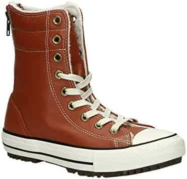 ca639be20fee Converse Women s Chuck Taylor Allstar Hi Rise Boot Leather+Fur Antique Sepia