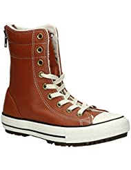 Converse Womens Chuck Taylor Allstar Hi Rise Boot Leather+Fur Antique Sepia