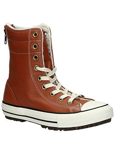 Converse Women's Chuck Taylor Allstar Hi Rise Boot Leather+Fur Antique Sepia (5.5) Brown