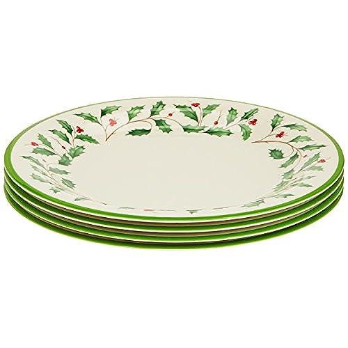 Lenox Holiday Melamine Dinner Plates (Set of 4) Ivory  sc 1 st  Amazon.com & Melamine Christmas Dinnerware: Amazon.com