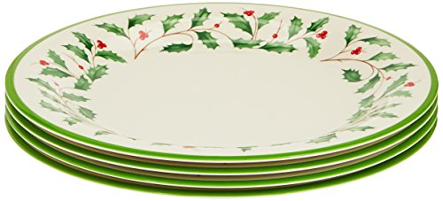 Lenox Holiday Melamine Dinner Plates (Set of 4), Ivory