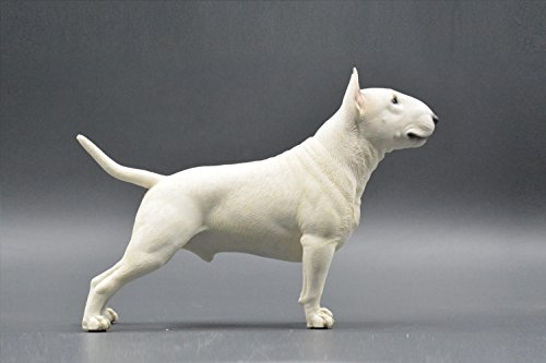 (Pit Bull Terrier Sculpture | Hand-made and painted | Pet Portrait Dog Statue Figurine Memorial | Pit Bull Terrier Collectibles | Pit Bull Terrier Art (white))