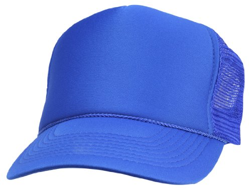 - DALIX Plain Trucker Hat in Royal Blue