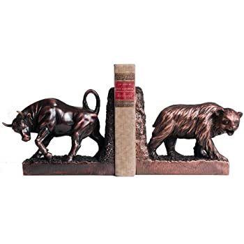 "12"" Bronze Bull and Bear Bookends"