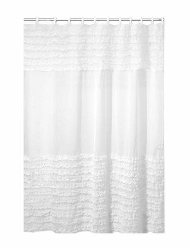 Creative Bath Products Ruffles Shower Curtain, 72W x 72H Inc