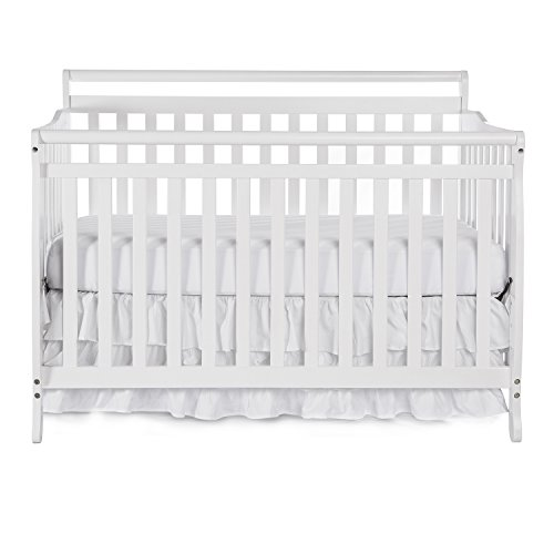 Dream On Me Liberty 5-in-1 Convertible Crib, White