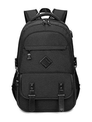 yiapinn Oxford Tuch Rucksack USB Casual Daypack Student Schultasche Laptop Rucksack grau grau onesize schwarz
