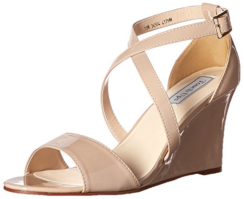Patent Touch Nude Sandal Wedge Women's Jenna Ups 6wBpY4